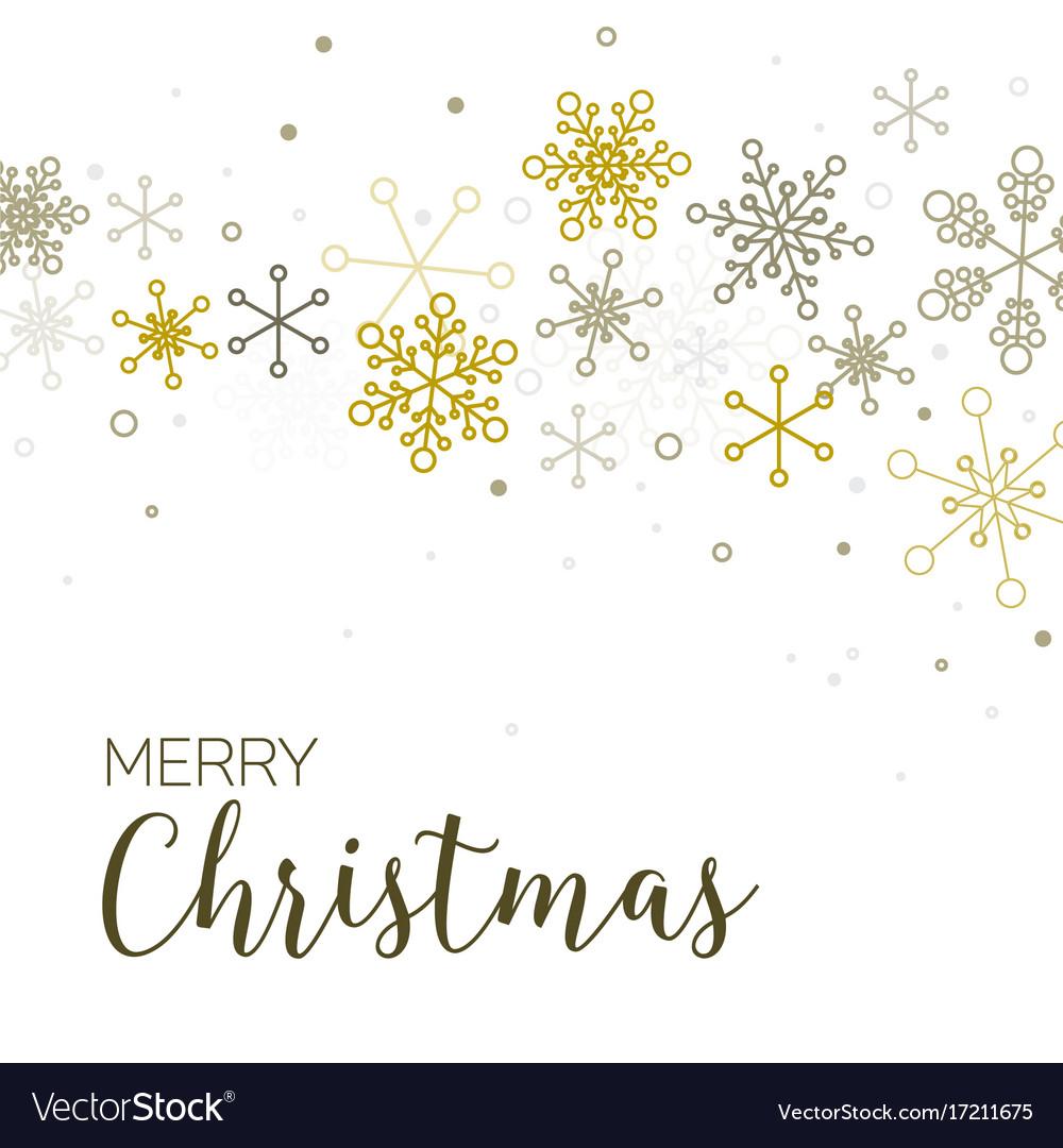 Retro simple christmas card Royalty Free Vector Image