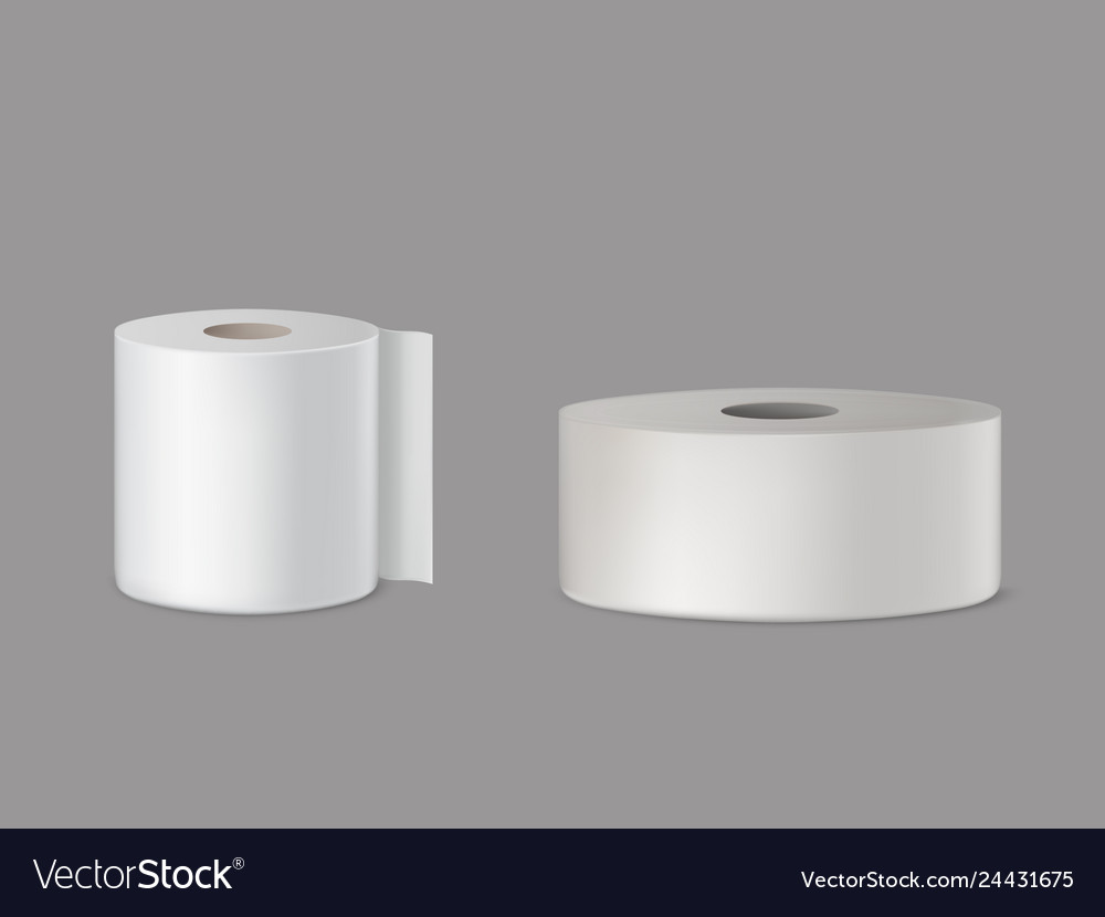 Toilet paper kitchen towel 3d realistic