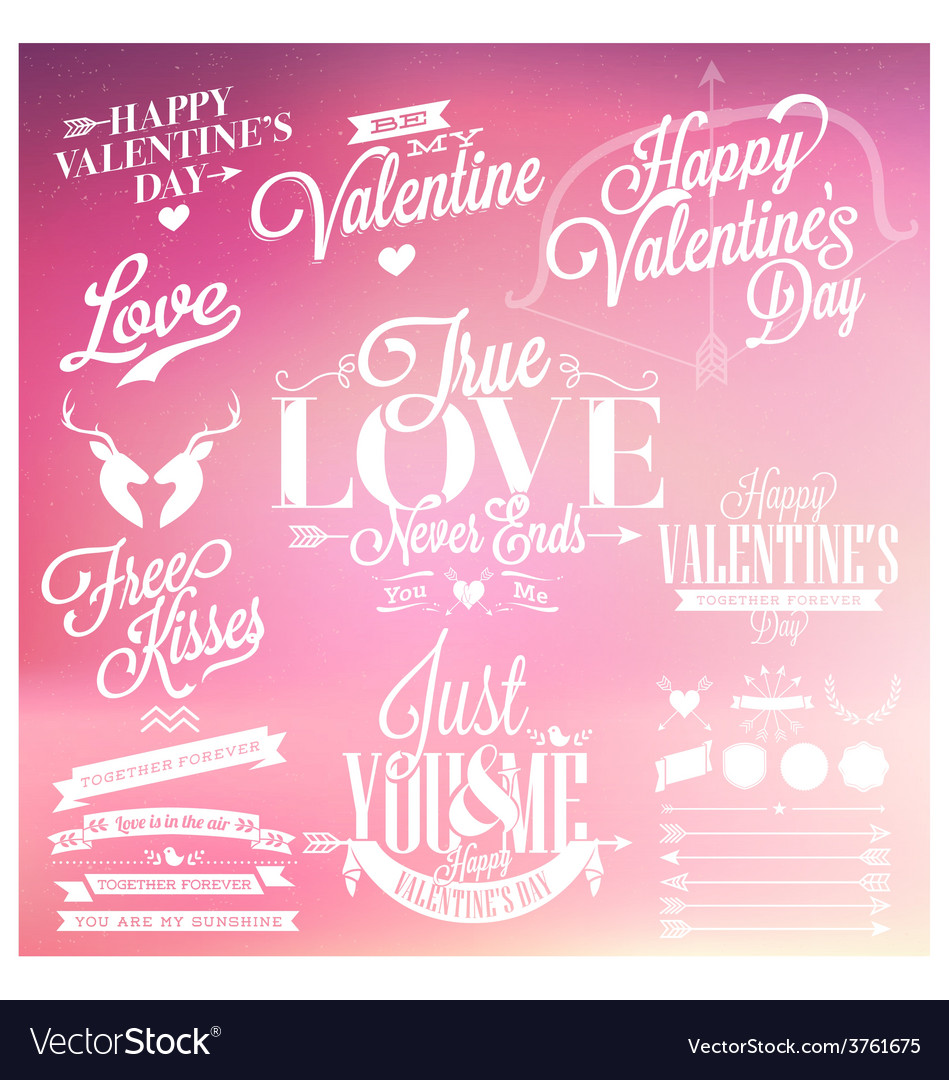 Valentines Day Signs Royalty Free Vector Image