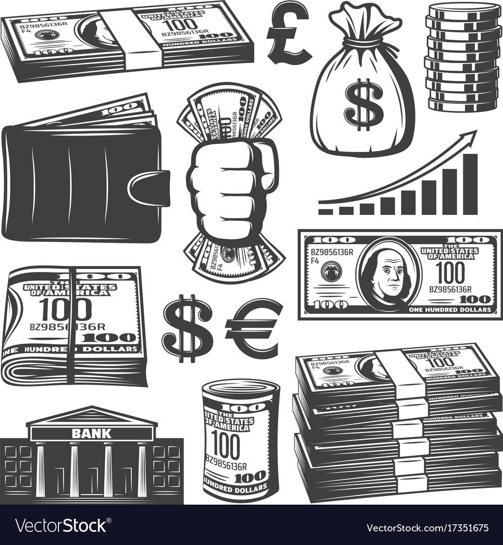 Vintage cash elements collection