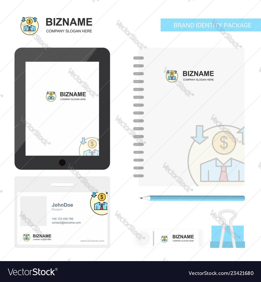 Avatar business logo tab app diary pvc employee