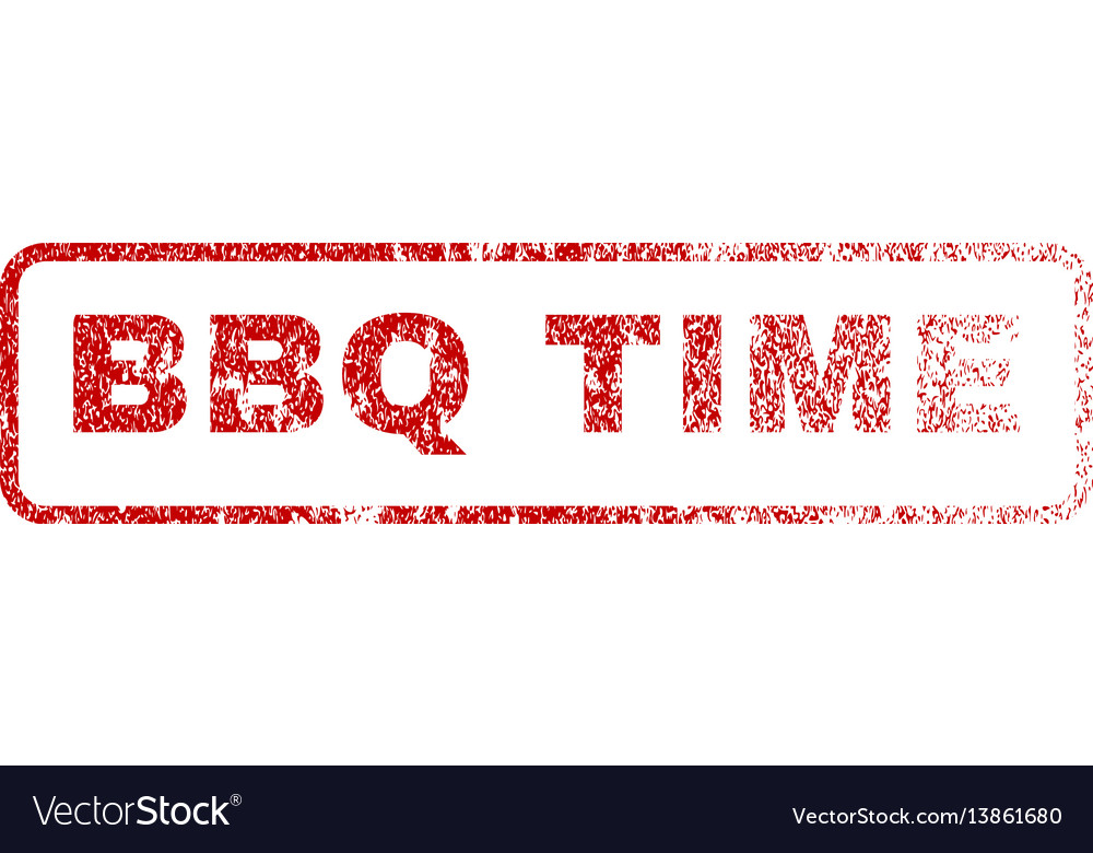 Bbq time rubber stamp