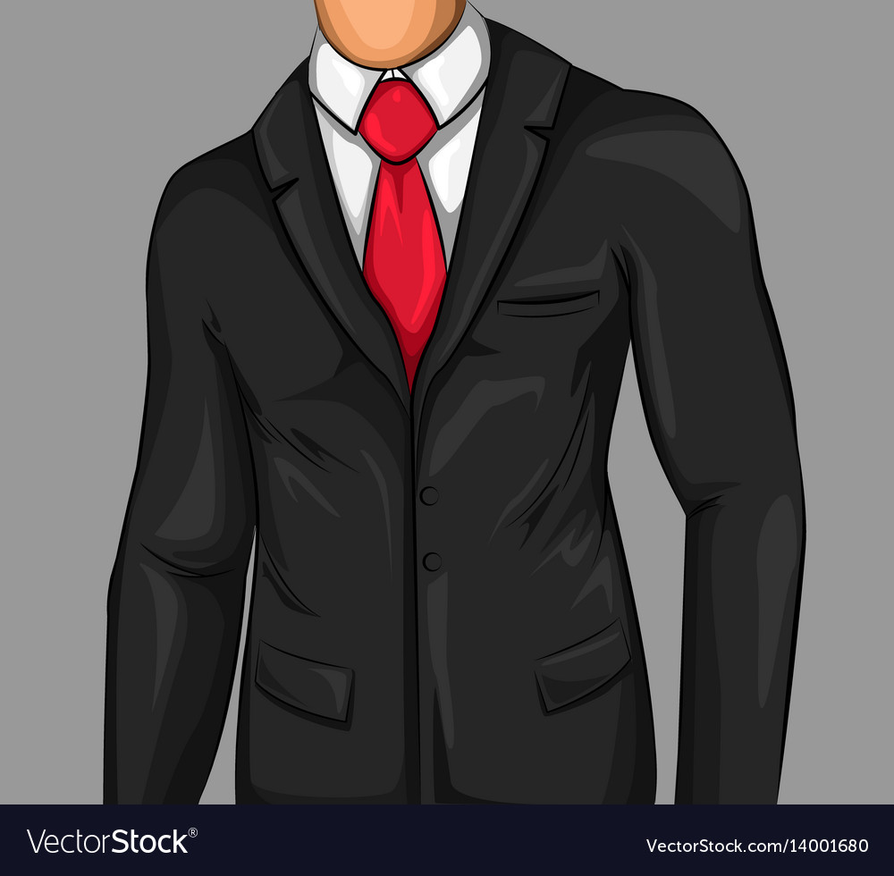 Comic attractive business man vector image
