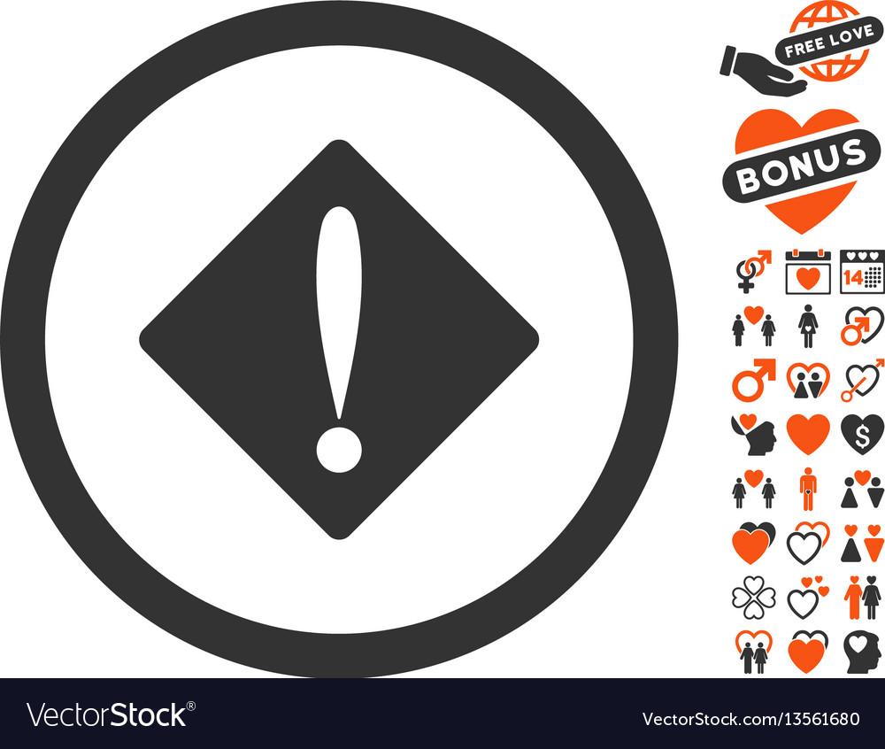 Problem icon with valentine bonus