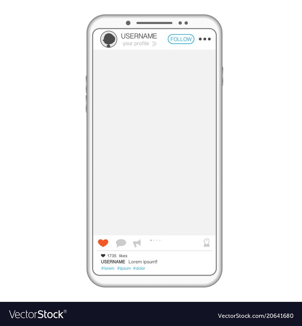 Social media post phone