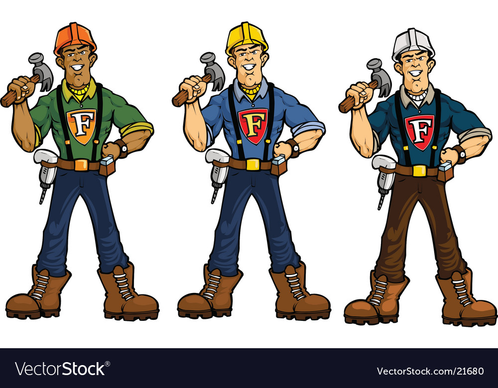 Superhero construction guy vector image