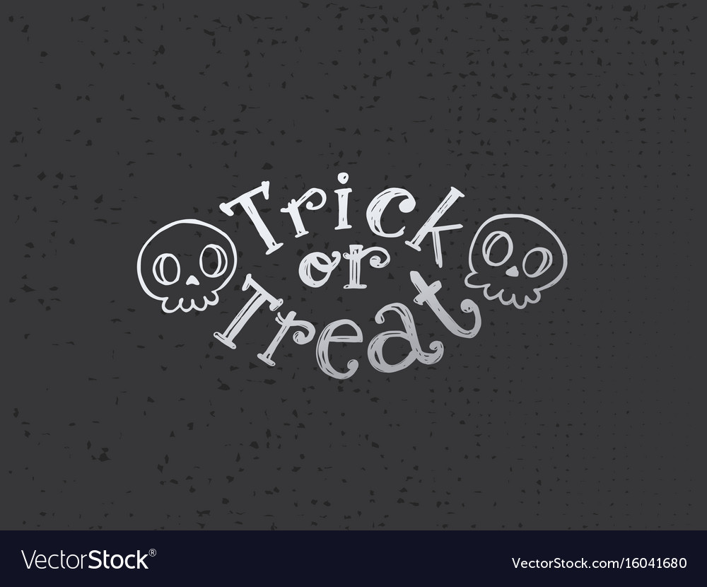 Trick or treat flat sketch vector image