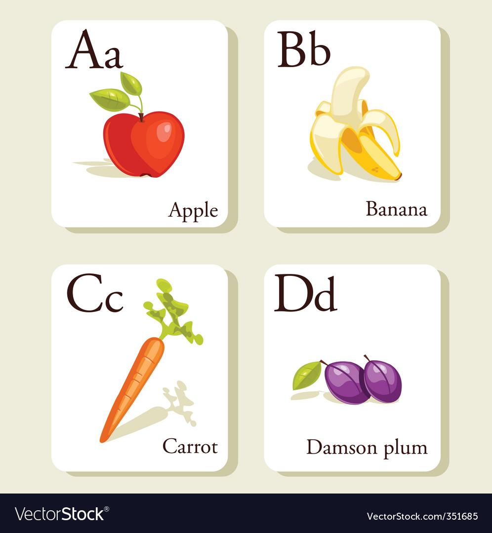 alpahbet cards