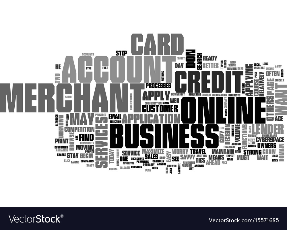 apply for a business credit card text word cloud vector image
