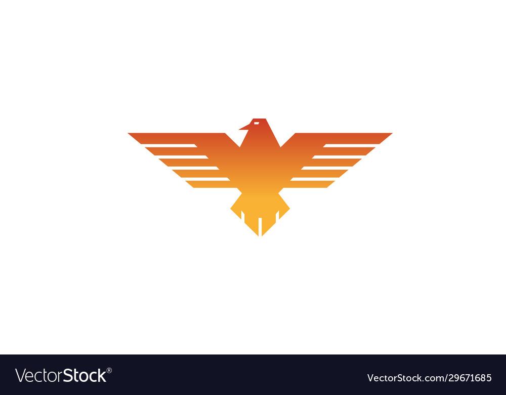 Creative geometric eagle logo