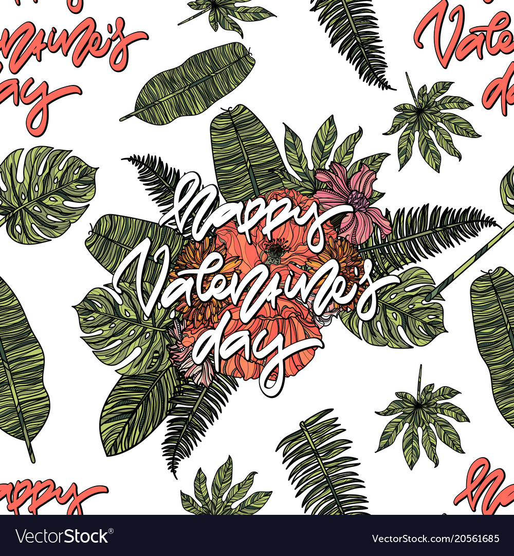 Happy valentines day seamless pattern
