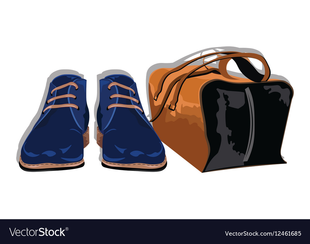 Male shoes and bag