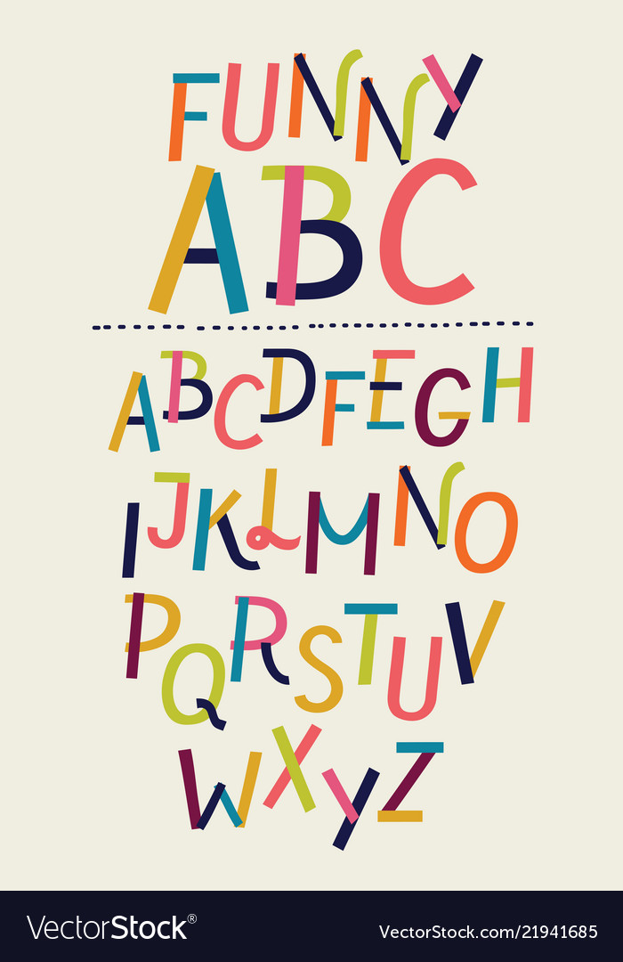 Modern paper font and alphabet