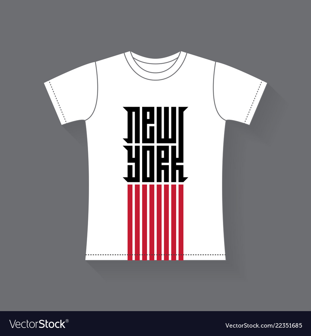 New york - t-shirt design tee shirt graphics with