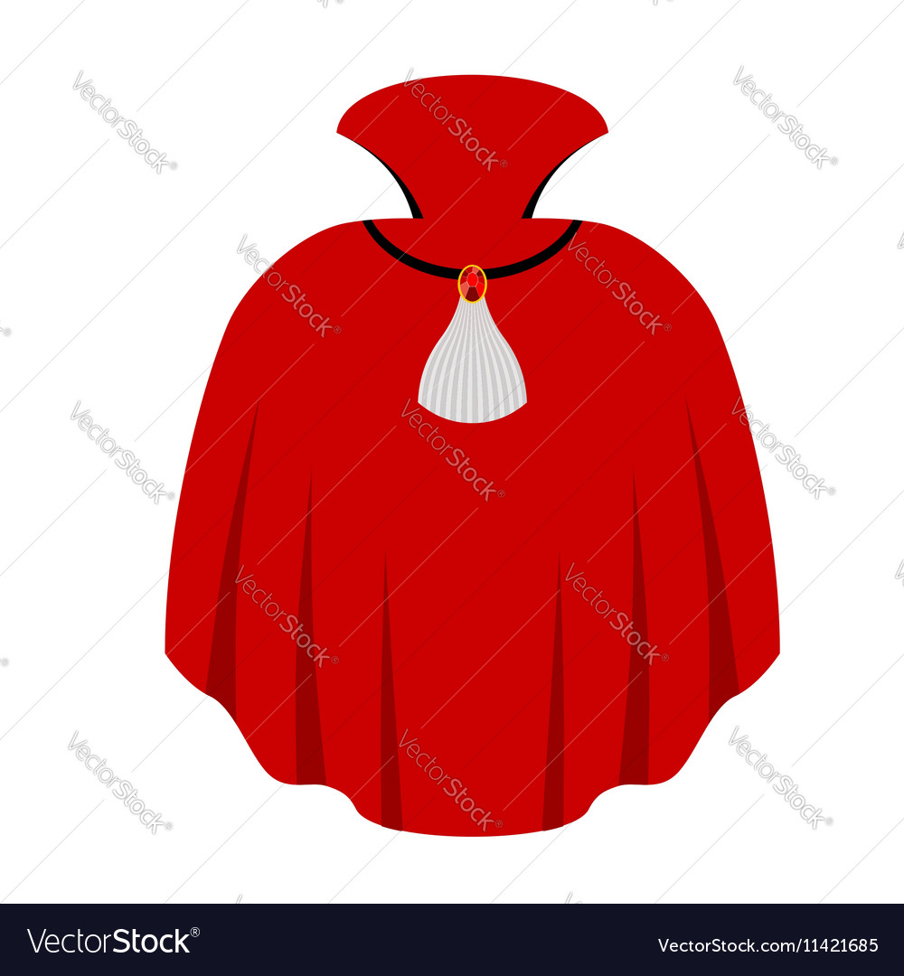 Red cape Dracula isolated mantle Vampire white
