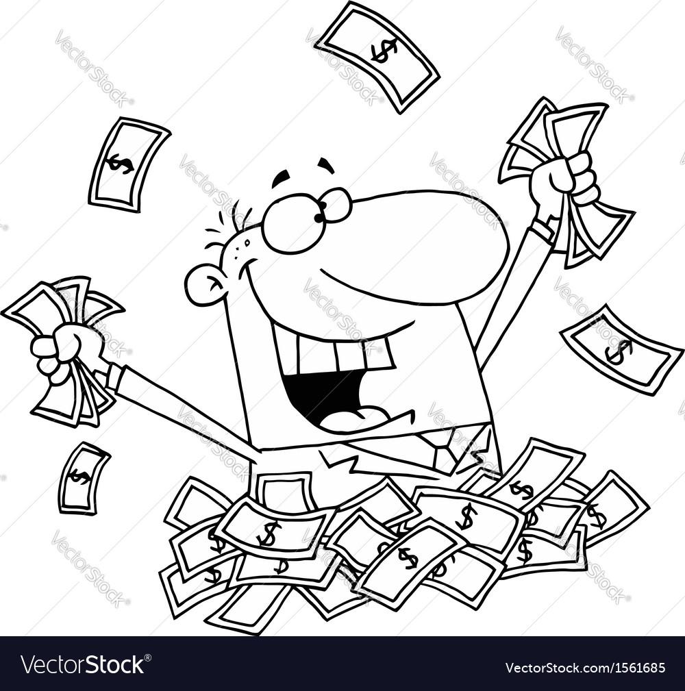 Rich man cartoon vector image