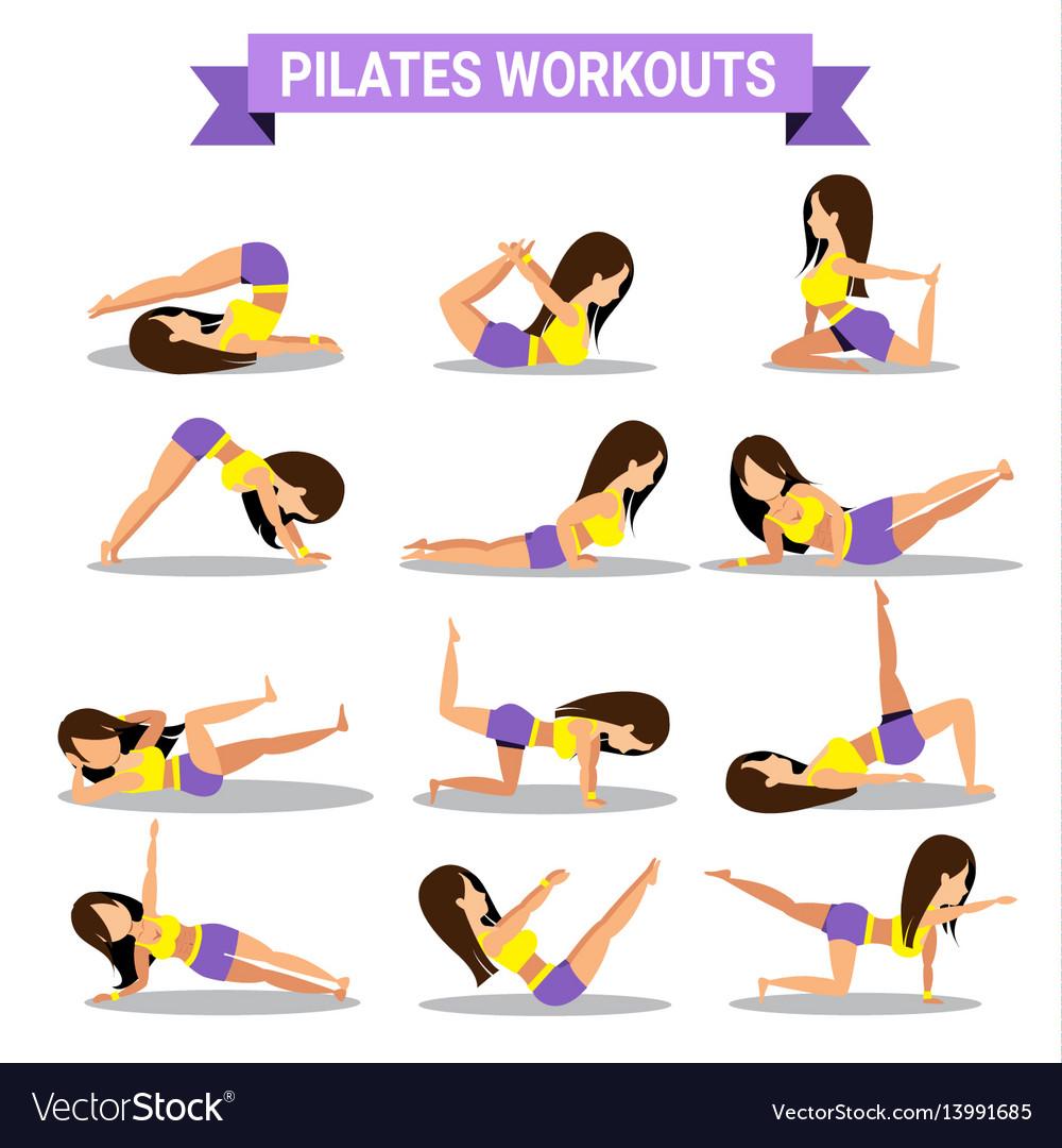 Set of pilates workouts design