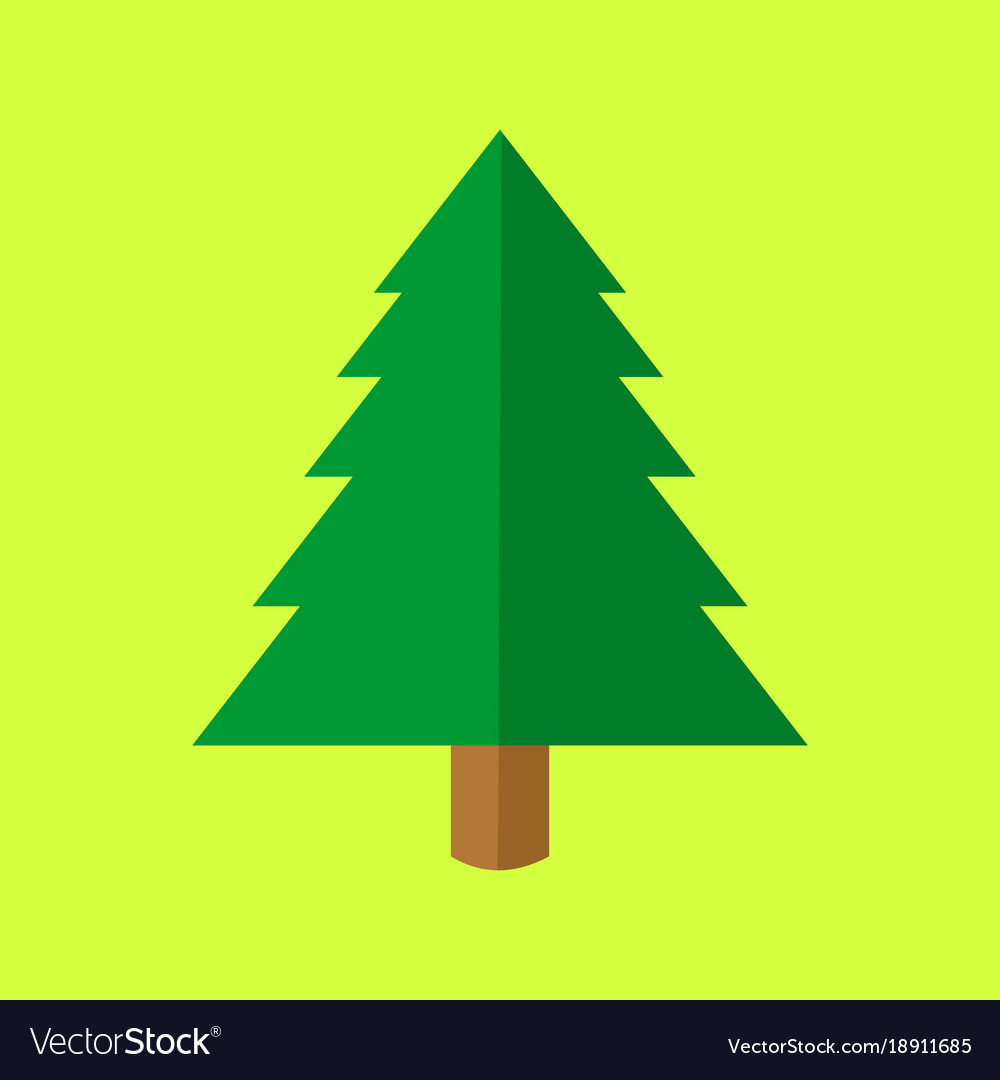 Simple Christmas Tree Cartoon Royalty Free Vector Image Looking for christmas tree coloring pages this holiday season? vectorstock