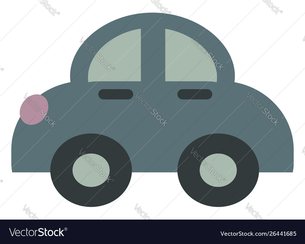 Small car on white background