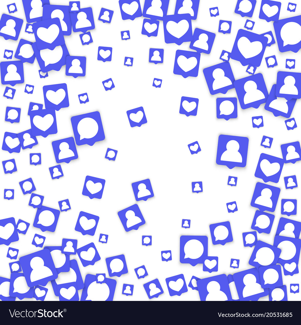 social media background royalty free vector image