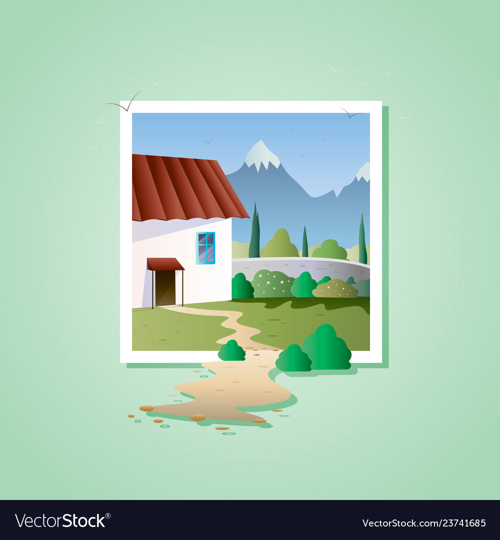 Spring landscape with house on mountain on older house design, neutral house design, color house design, movie house design, food house design, conventional house design, girly house design, local house design, whole house design, gold house design, colorful house design, shell house design, natural art, natural home, historical house design, oil house design, economic house design, strawbale house design,