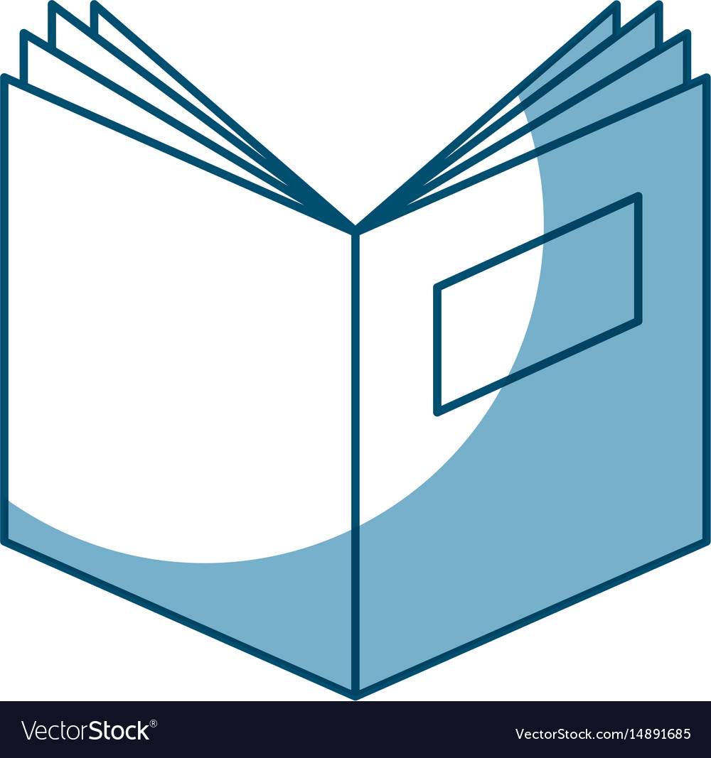 Text book open isolated icon