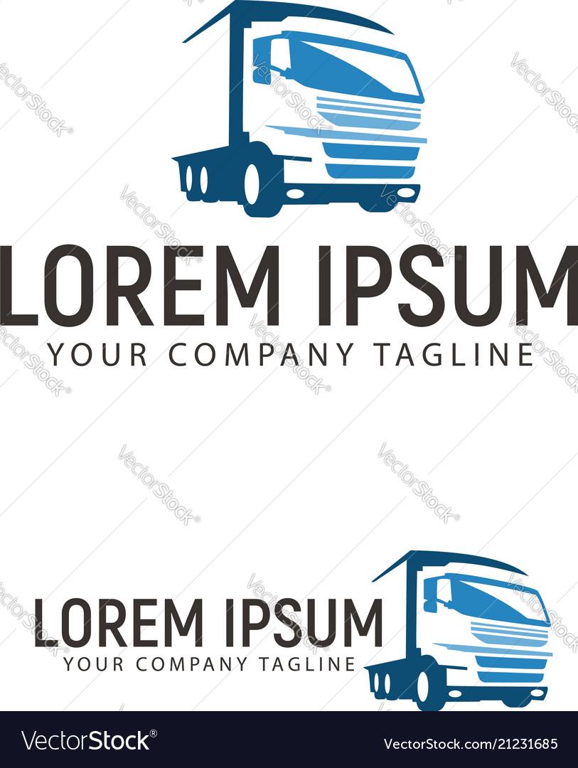Trucking transportation logo design concept