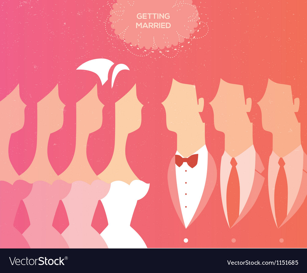Wedding ceremony invitation Royalty Free Vector Image