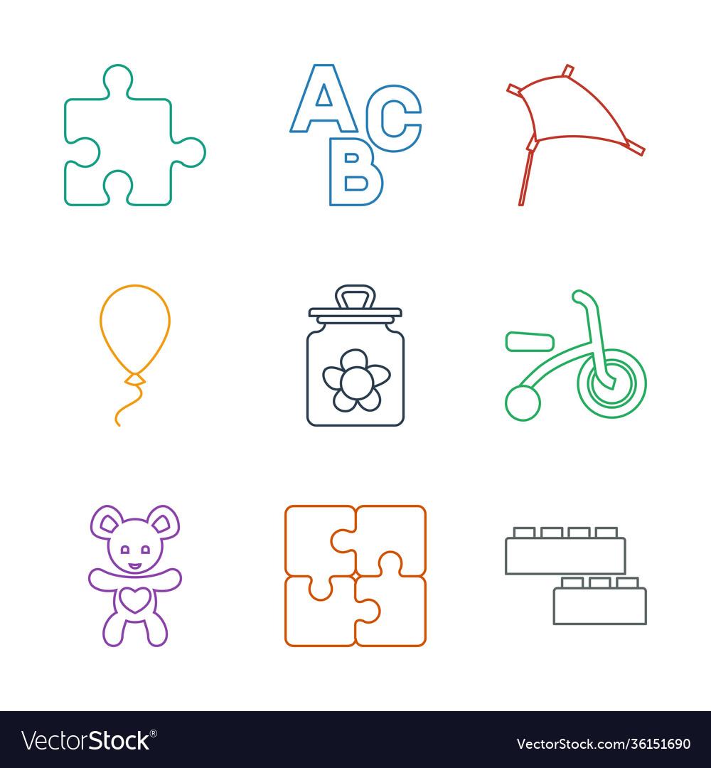 9 toy icons