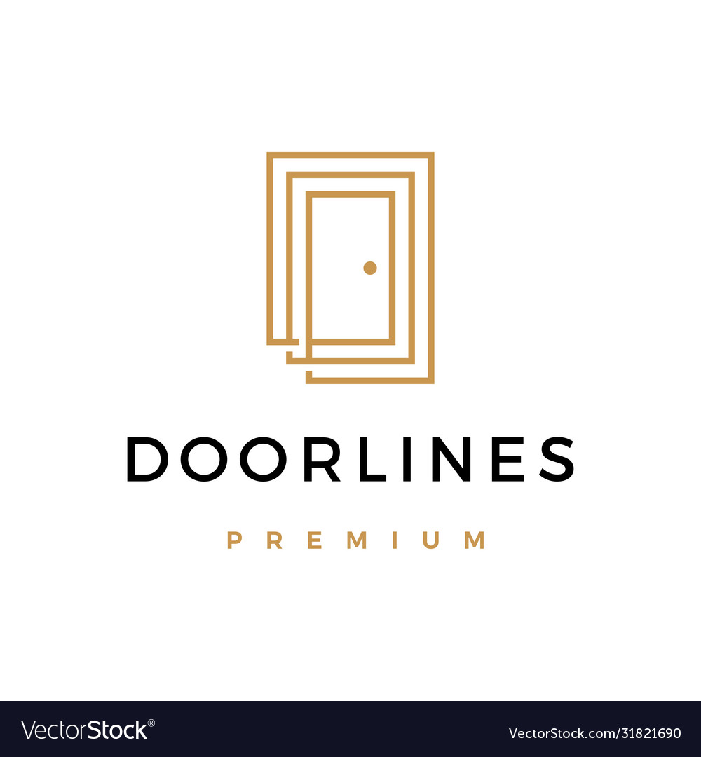 Door lines logo icon