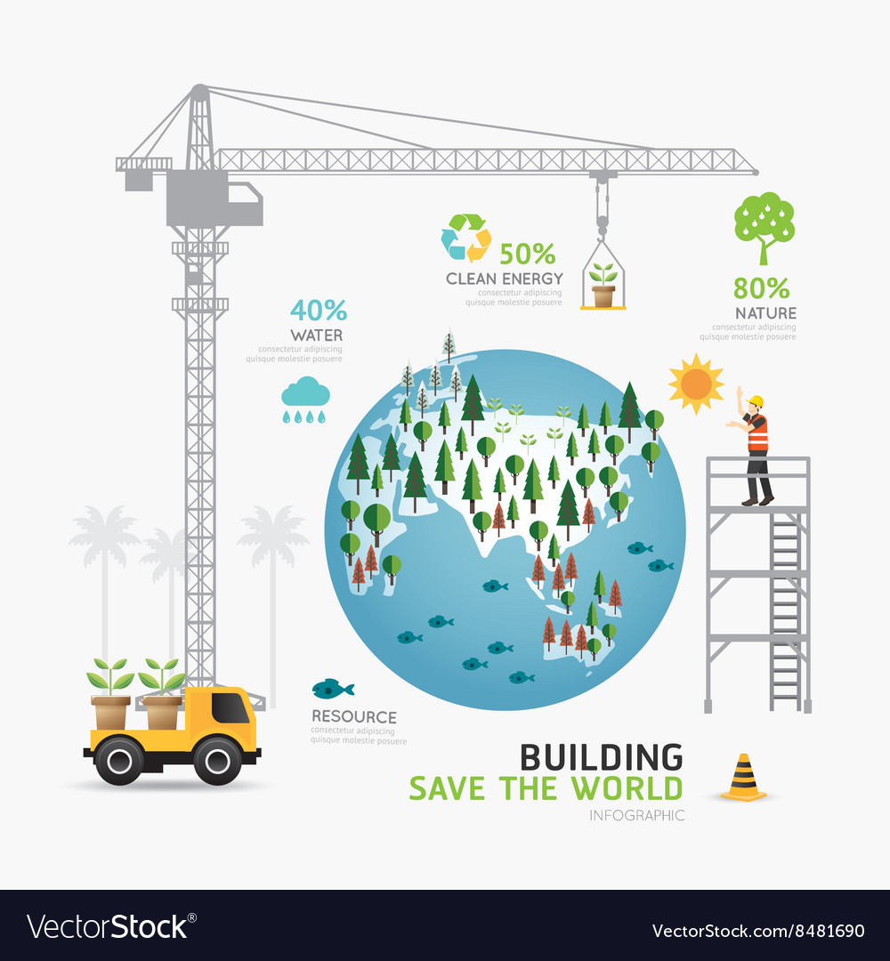 Infographic nature care template design building