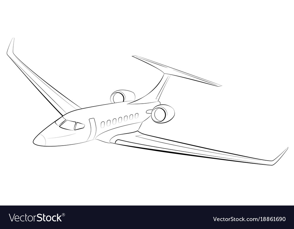 Prestigious and expensive modern business airplane