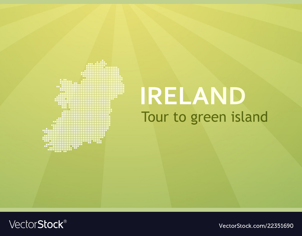 Tour to ireland - business card for travel company