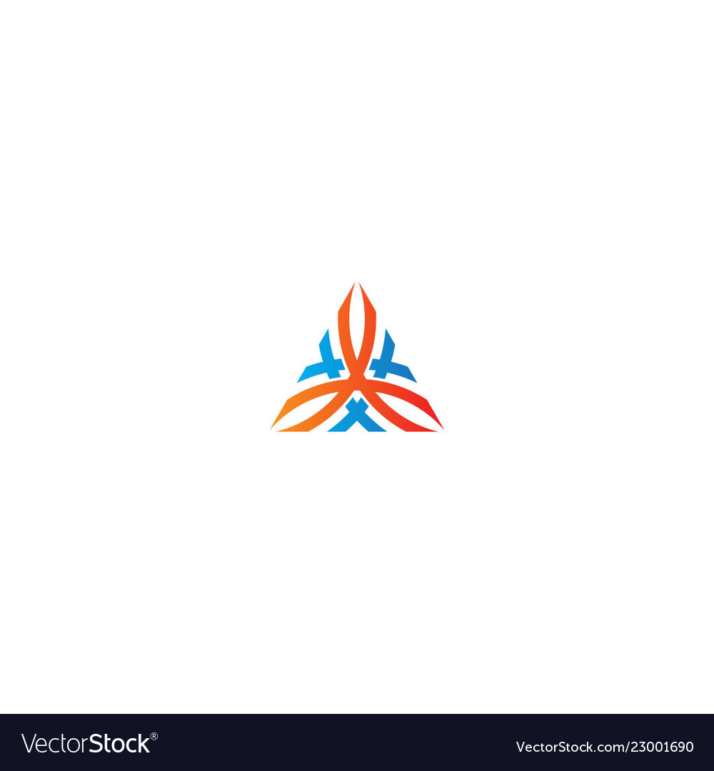 Triangle abstract ornament logo