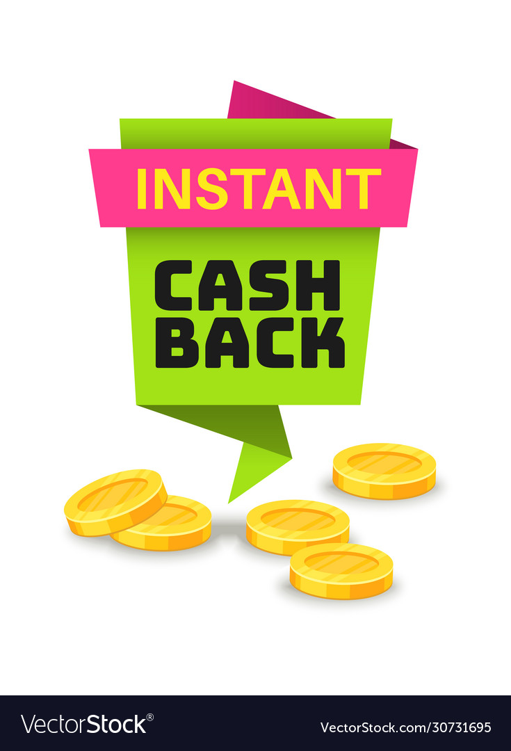 Cashback money business promotion offer sticker