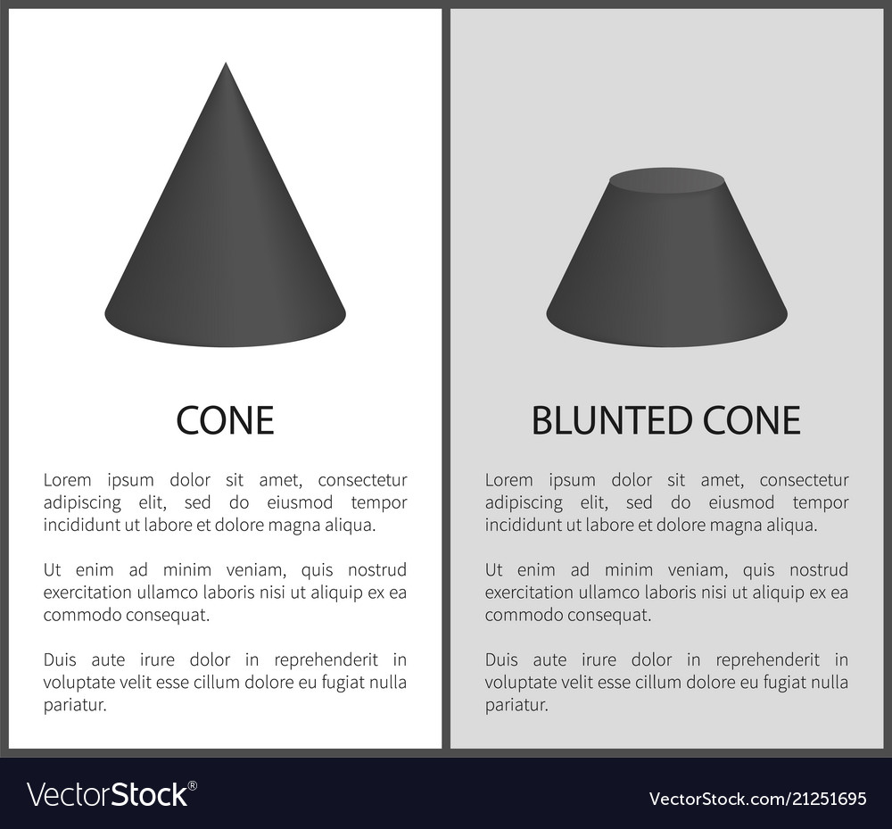 Cone and blunted cone set