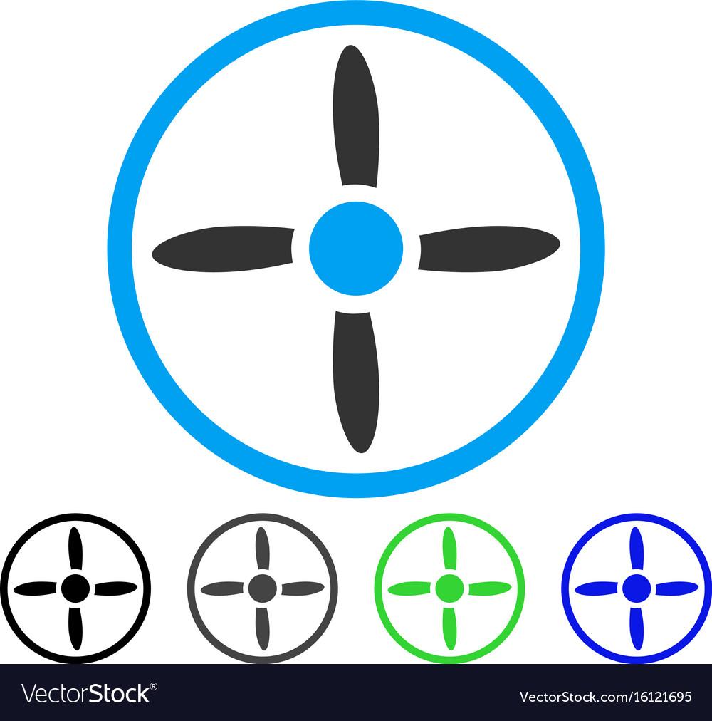 Drone screw flat icon vector image