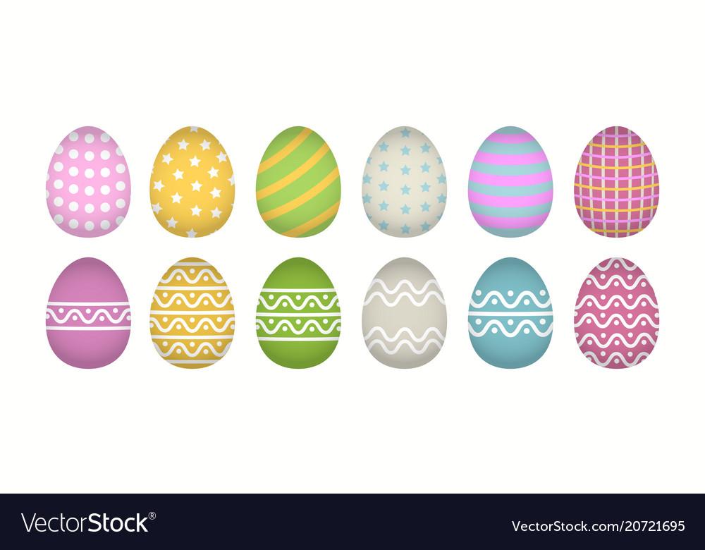 Egg icon cartoon set isolated
