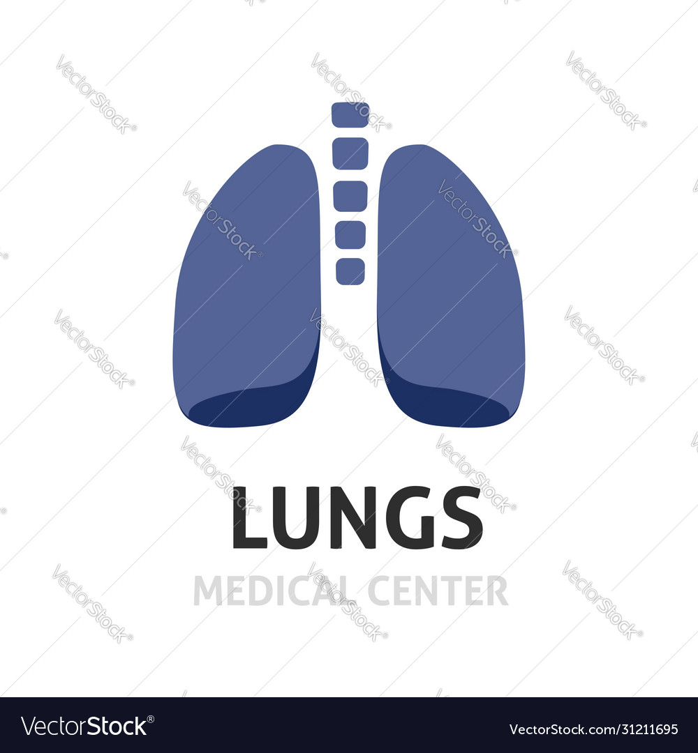 Lungs logotype symbol or lung care logo