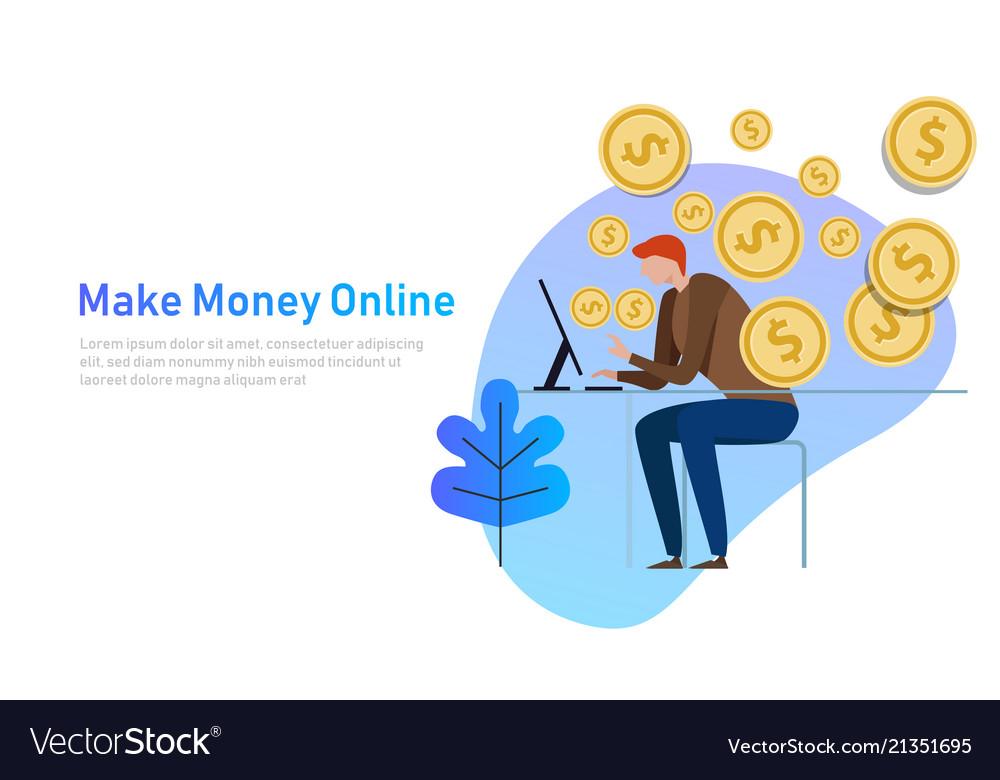 Make money online business concept