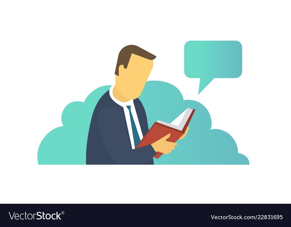Man Reading Book Ebook Reader Electronic Book