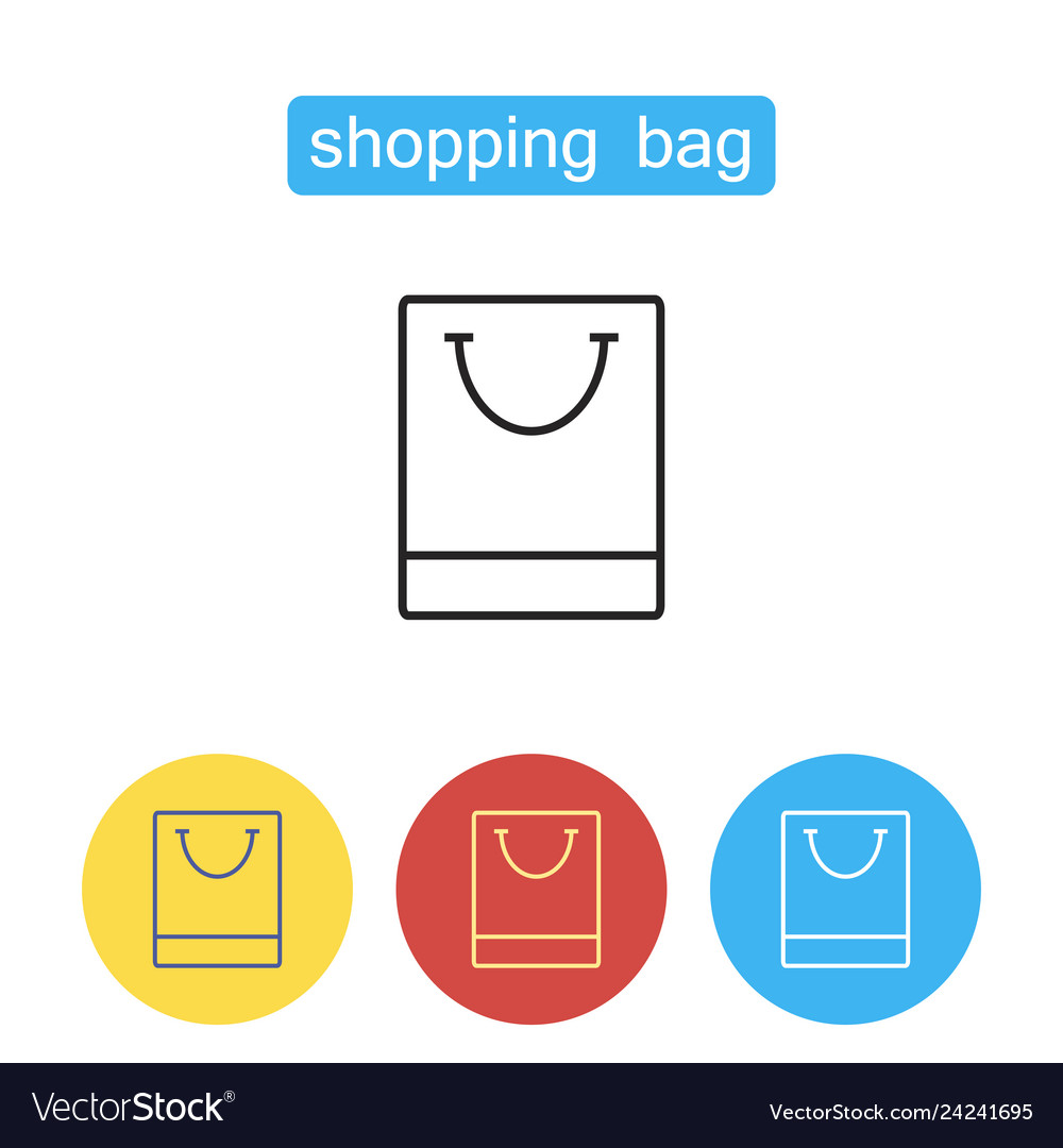 Shopping bag outline icon