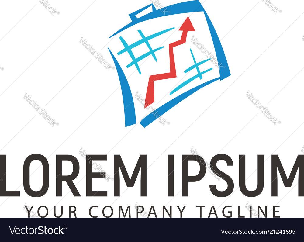 Statistics chart business logo design concept