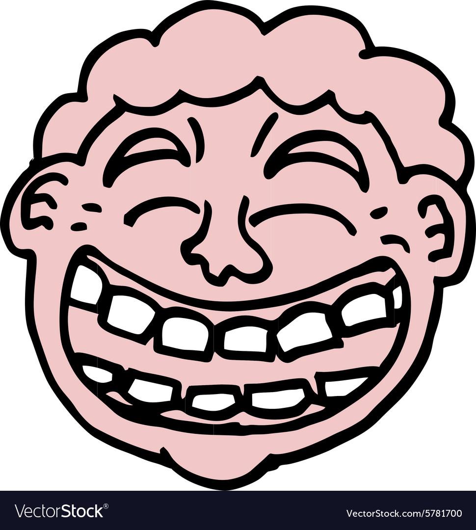 joke face royalty free vector image vectorstock