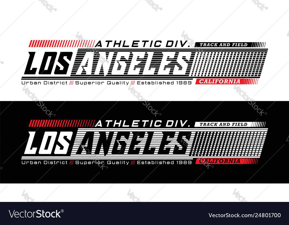 Los angeles califronia typography design