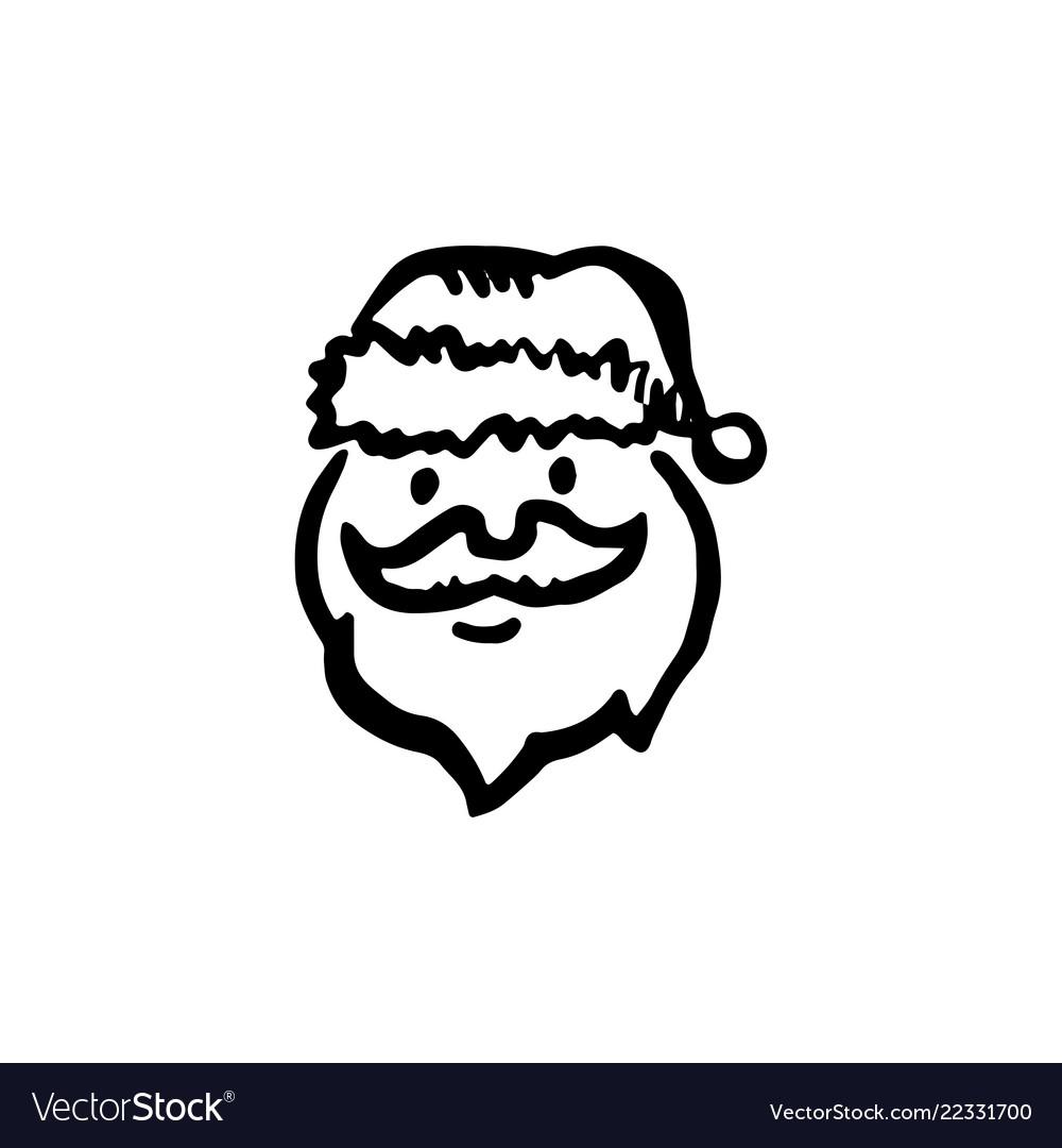 Santa claus sketch icon