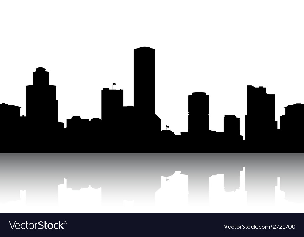 silhouettes cityscapes royalty free vector image rh vectorstock com Tokyo Cityscape Silhouette Cityscape Border