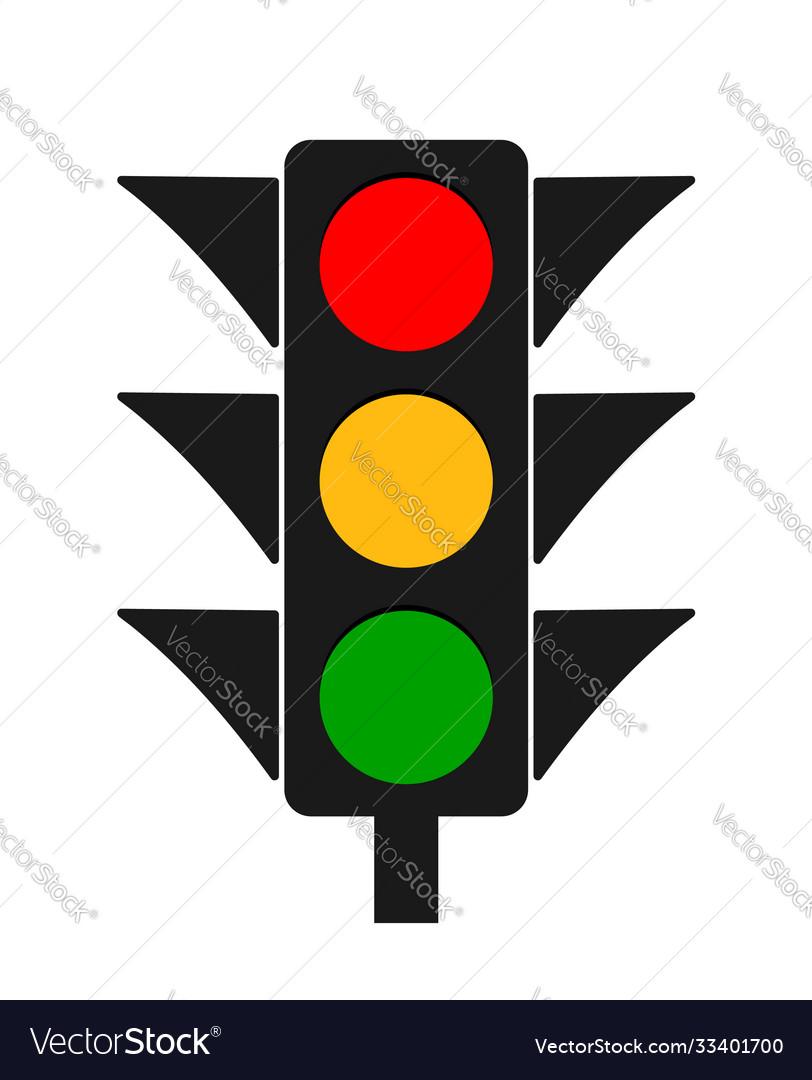 Traffic light icon stoplight red yellow green
