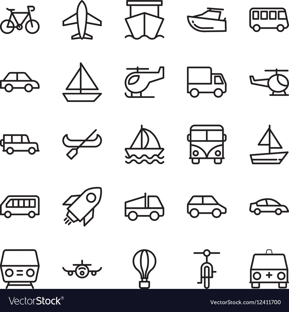 Transport Colored Icons 2