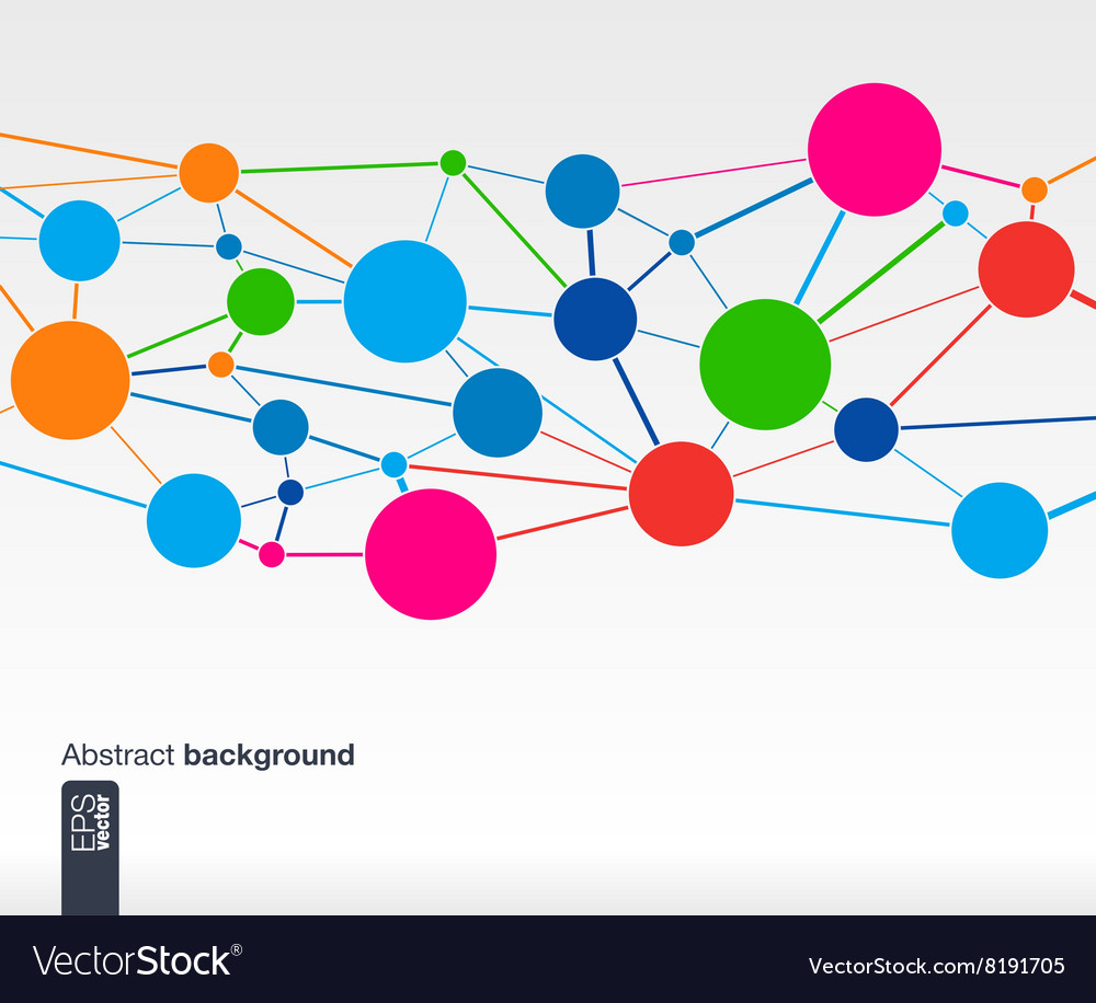 Abstract background whith lines and circles vector image